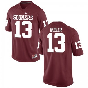 A.D. Miller Sooners Jersey Game Mens Crimson
