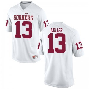 A.D. Miller Men Jersey Game White Oklahoma