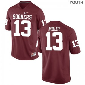 Crimson A.D. Miller Jerseys OU Sooners Limited For Kids