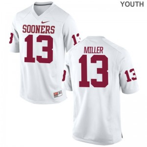 A.D. Miller Kids Jersey White Oklahoma Limited