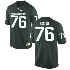 Limited Mens Michigan State Spartans Jerseys of AJ Arcuri - Green