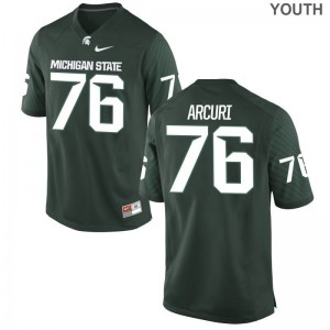 For Kids AJ Arcuri Jerseys University Green Game Michigan State Jerseys