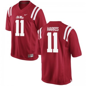 A.J. Harris Men Rebels Jerseys Red Limited Football Jerseys