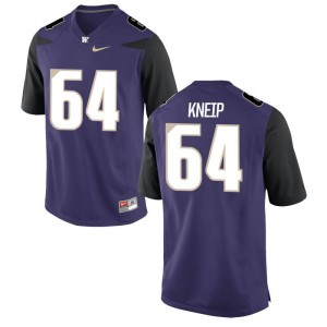 Game A.J. Kneip Jerseys For Men Washington Huskies - Purple