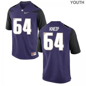 A.J. Kneip UW Jersey Game Purple Youth