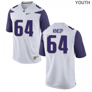 Game A.J. Kneip Jersey UW Huskies For Kids White