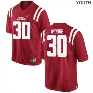 A.J. Moore University of Mississippi Jerseys Youth(Kids) Red Game