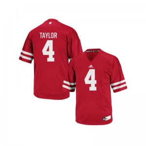 University of Wisconsin Jersey A.J. Taylor Mens Authentic - Red