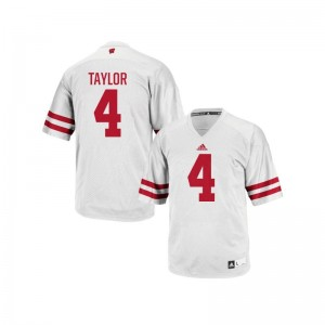 A.J. Taylor Mens Jerseys Replica Wisconsin Badgers White