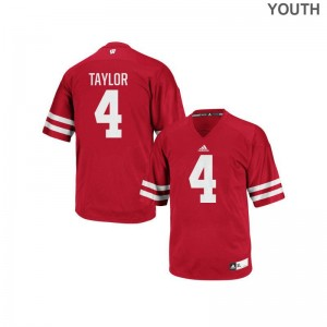 University of Wisconsin Jerseys A.J. Taylor Authentic For Kids - Red