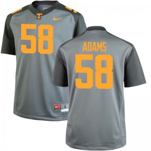 Tennessee Volunteers Mens Game Gray Aaron Adams Jerseys