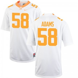 Aaron Adams Tennessee Vols Jersey Youth Game White Embroidery