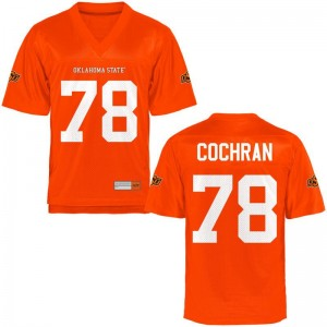 Oklahoma State Cowboys Aaron Cochran Men Game Orange High School Jersey