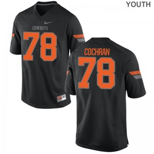 OK State Aaron Cochran Game Jersey Black Youth