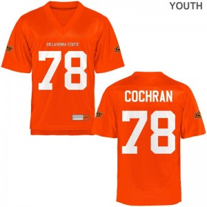 OSU Cowboys Aaron Cochran Game For Kids Jerseys - Orange