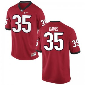 Georgia Aaron Davis Jerseys Men Red Game