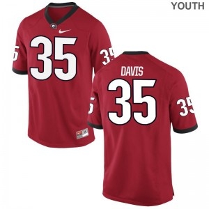University of Georgia Aaron Davis Jersey Red Youth Game