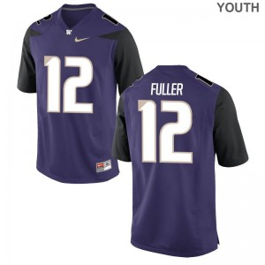 UW Jersey of Aaron Fuller Youth Game - Purple