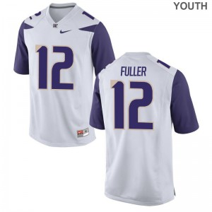 University of Washington Aaron Fuller Kids Limited Jersey White