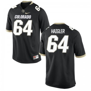 Game Black Aaron Haigler Jerseys For Men Colorado