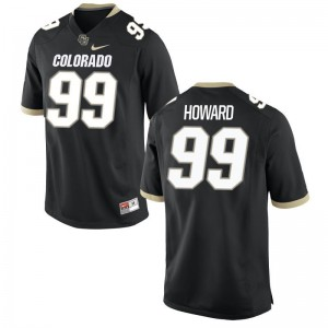 Kids Game Stitch Colorado Buffaloes Jersey Aaron Howard Black Jersey