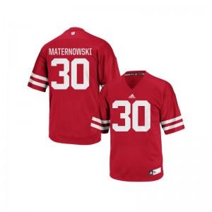 Authentic Aaron Maternowski Jerseys Wisconsin Badgers Red Mens