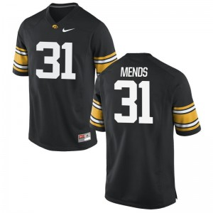 Men Aaron Mends Jerseys Iowa Limited - Black