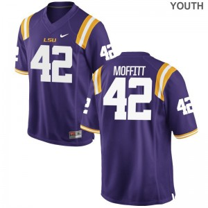 LSU Tigers Aaron Moffitt Jerseys Youth Purple Limited