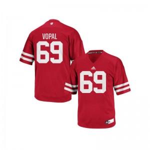 Replica University of Wisconsin Aaron Vopal Men Jersey - Red