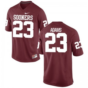 Abdul Adams Jerseys Men OU Sooners Game Crimson