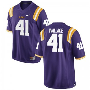 Purple Game Abraham Wallace Jersey Mens LSU