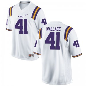 For Kids Game LSU Tigers Jersey Abraham Wallace White Jersey