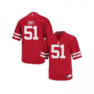 Adam Bay Wisconsin Badgers Jerseys Red Men Authentic