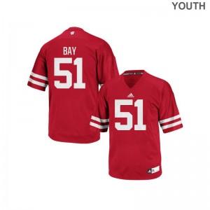 Wisconsin Badgers Authentic Kids Adam Bay Jerseys - Red