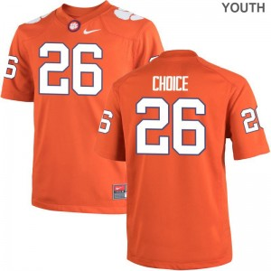Kids Game College Clemson Tigers Jersey Adam Choice Orange Jersey