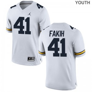 Wolverines Adam Fakih Jerseys For Kids Jordan White Game