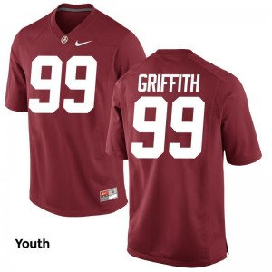 Adam Griffith Alabama Jersey For Kids Game - Red