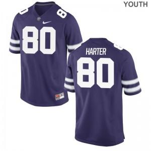 Adam Harter Kids Jersey Kansas State University Game - Purple