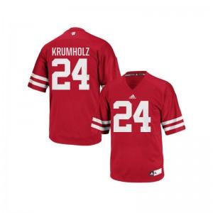 Adam Krumholz For Men Red Jerseys Replica Wisconsin Badgers