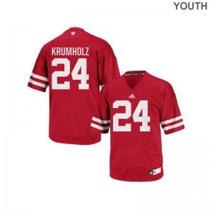 Adam Krumholz Wisconsin Badgers Jerseys Authentic Red Kids