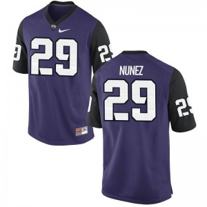 Adam Nunez Jerseys TCU Horned Frogs Purple Black Game Mens Jerseys