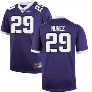 Texas Christian University Adam Nunez Jerseys Game Purple For Men