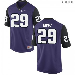 Horned Frogs Jerseys of Adam Nunez For Kids Game - Purple Black