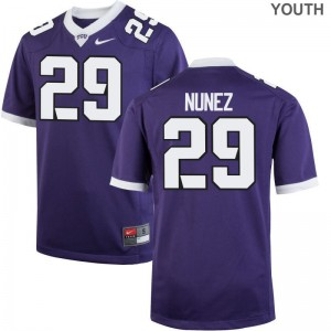 Adam Nunez Jerseys Kids TCU Horned Frogs Purple Game