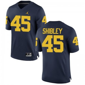 For Men Adam Shibley Jerseys Michigan Game - Jordan Navy