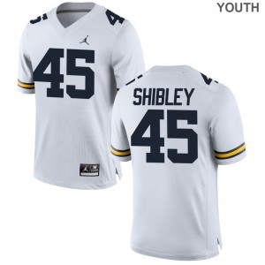 Michigan Limited Adam Shibley Youth Jordan White Jersey