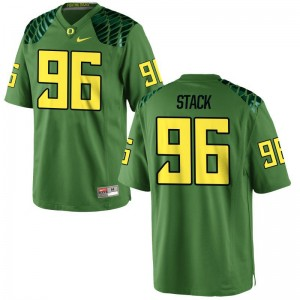 Oregon Adam Stack Jerseys Apple Green Mens Limited