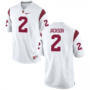 USC University Adoree Jackson Game Jersey White Youth(Kids)