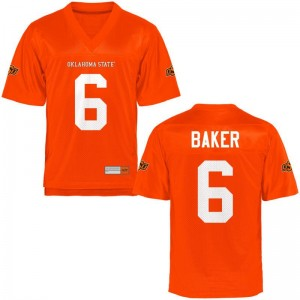 Adrian Baker For Men Oklahoma State Jersey Orange Game Jersey