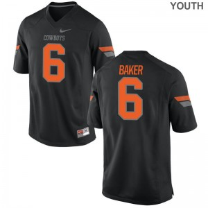Oklahoma State Cowboys Kids Game Black Adrian Baker Jersey